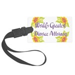 Worlds Greatest Divorce Atto Large Luggage Tag