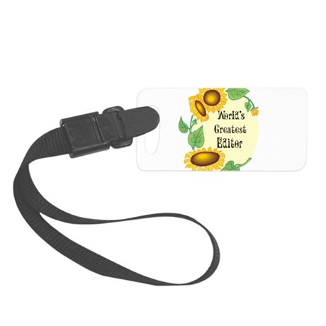 Worlds Greatest Editor Small Luggage Tag