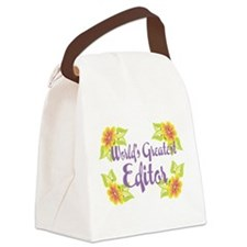 Worlds Greatest Editor Canvas Lunch Bag