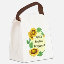 Worlds Greatest Receptionist Canvas Lunch Bag
