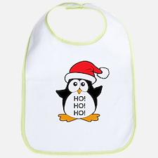 Cute Christmas Penguin Ho Ho Ho Bib