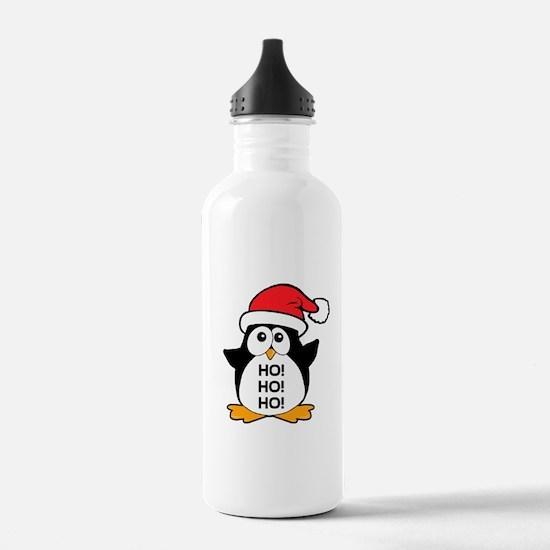 Cute Christmas Penguin Ho Ho Ho Water Bottle