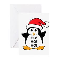 Cute Christmas Penguin Ho Ho Ho Greeting Card
