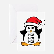 Cute Christmas Penguin Ho Ho Ho Greeting Card