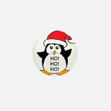 Cute Christmas Penguin Ho Ho Ho Mini Button (100 p