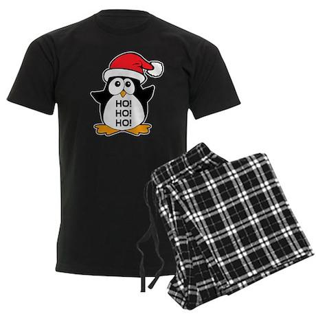 Cute Christmas Penguin Ho Ho Ho Men's Dark Pajamas