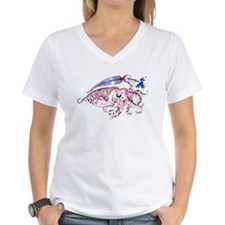 Women's V-Neck Cuttlefish T-Shirt
