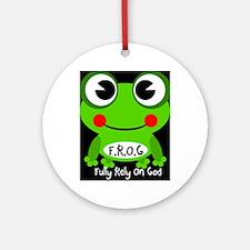 Cute Cartoon Frog Fully Rely On God F.R.O.G. Ornam