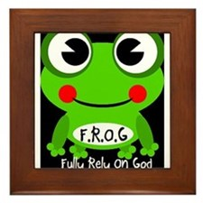 Cute Cartoon Frog Fully Rely On God F.R.O.G. Frame