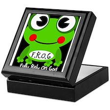Cute Cartoon Frog Fully Rely On God F.R.O.G. Keeps