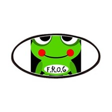 Cute Cartoon Frog Fully Rely On God F.R.O.G. Patch