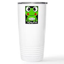 Cute Cartoon Frog Fully Rely On God F.R.O.G. Ceram