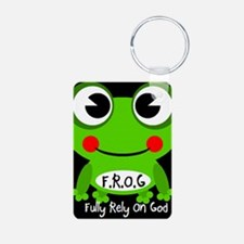 Cute Cartoon Frog Fully Rely On God F.R.O.G. Alumi