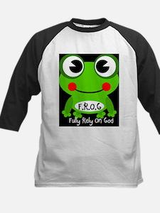 Cute Cartoon Frog Fully Rely On God F.R.O.G. Tee