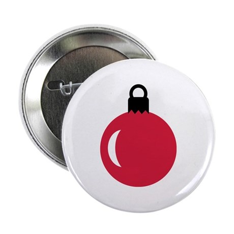 "Christmas ball ornament 2.25"" Button"