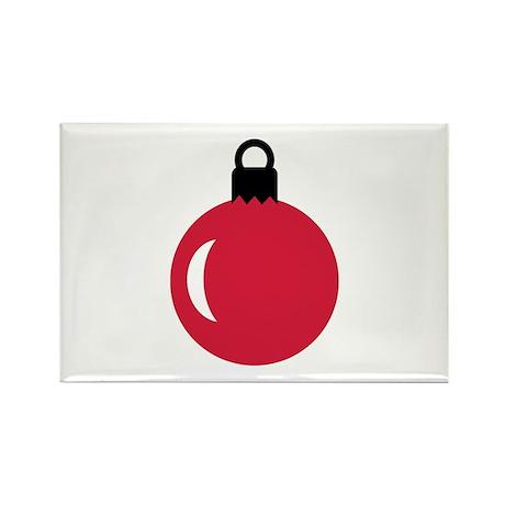 Christmas ball ornament Rectangle Magnet (100 pack