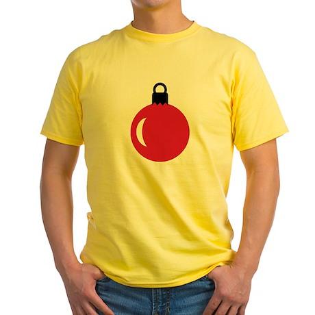 Christmas ball ornament Yellow T-Shirt