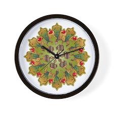 Holiday Snowflake Wall Clock