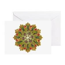 Holiday Snowflake Greeting Card
