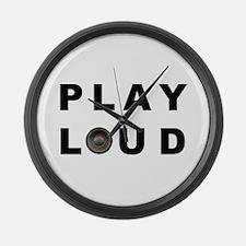 PLAY LOUD Large Wall Clock