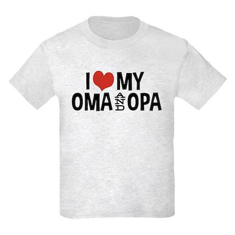 I Love My Oma and Opa Kids Light T-Shirt