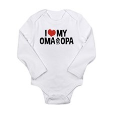 I Love My Oma and Opa Long Sleeve Infant Bodysuit