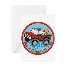 Country Santa Greeting Card
