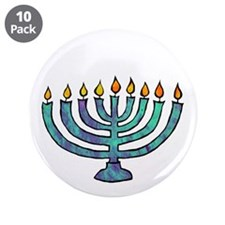 "Menorah 3.5"" Button (10 pack)"
