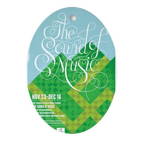 Sound Of Music Ornament Oval By Ptpsoundofmusic