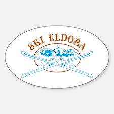 Eldora Crossed-Skis Badge Decal