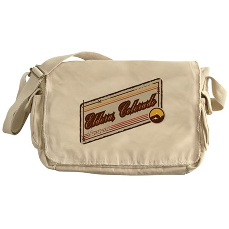Eldora Mountain Patch Messenger Bag