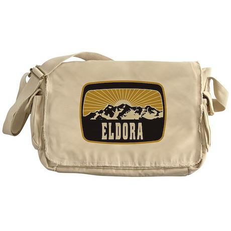 Eldora Sunshine Patch Messenger Bag