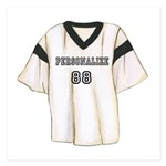 Personalized Sports Jersey 5.25 x 5.25 Flat Cards