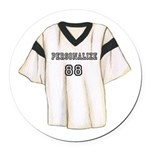 Personalized Sports Jersey Round Car Magnet