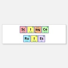 Science Rules Sticker (Bumper)