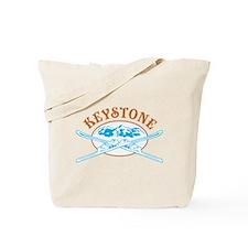 Keystone Crossed Skis Badge Tote Bag