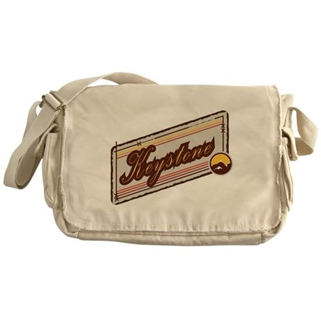 Keystone Mountain Badge Messenger Bag