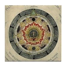 Cosmic Rose Tile Coaster