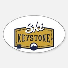 Ski Keystone Patch Sticker (Oval)