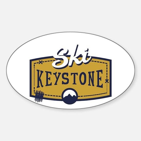Ski Keystone Patch Sticker (Oval)
