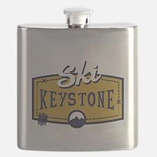 Ski Keystone Patch Flask