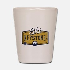 Ski Keystone Patch Shot Glass