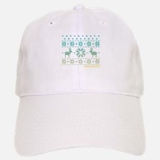 Breckenridge Blue Winter Sweater Baseball Baseball Cap