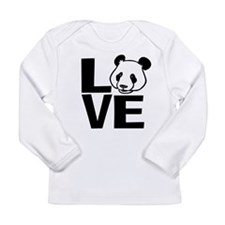 Love Panda Long Sleeve Infant T-Shirt
