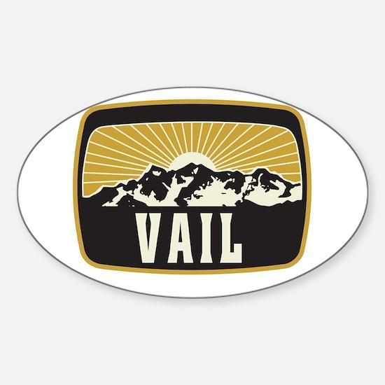 Vail Sunshine Patch Sticker (Oval)