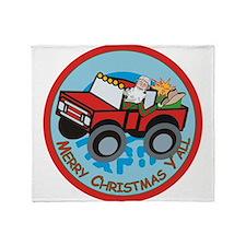 Country Santa Throw Blanket