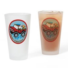 Country Santa Drinking Glass