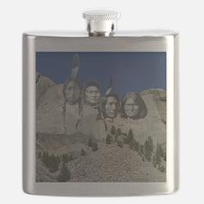 Native Mt. Rushmore Flask