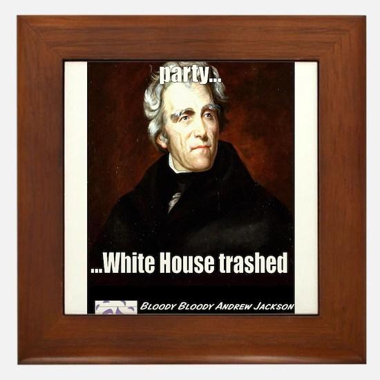 AJ Trashed White House Framed Tile