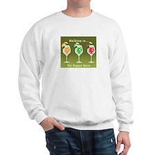 Walking is My Happy Hour (color) Sweatshirt